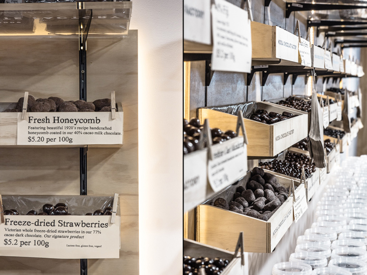 Дизайн фабрики шоколада – Название товаров и логотип