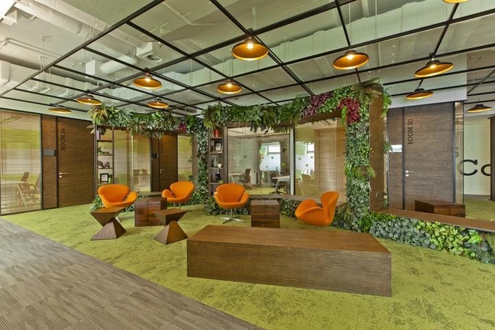 Уютный дизайн штаб-квартиры приёмной офиса Cyberport Smart-Space
