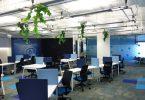 Дизайн штаб-квартиры Smart Space в синим цвете