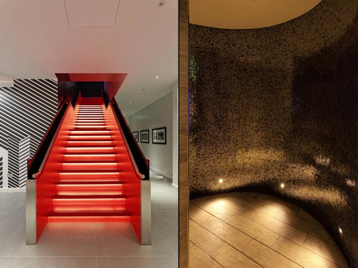 Дизайн спортивного клуба в Великобритании: лестница от Ikon от Optelma