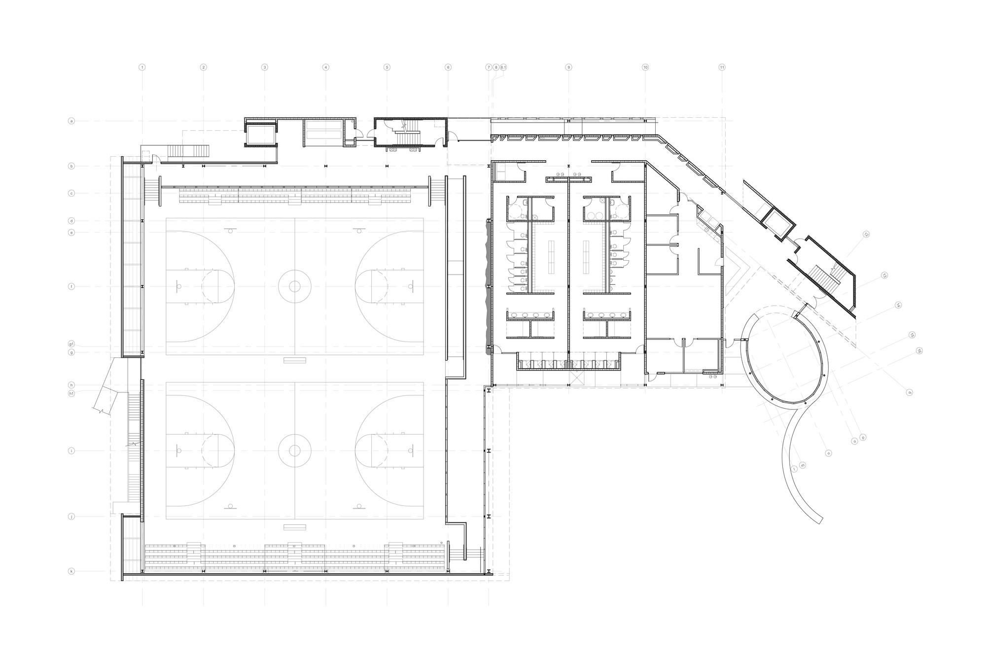 Дизайн спортивного комплекса: планировка