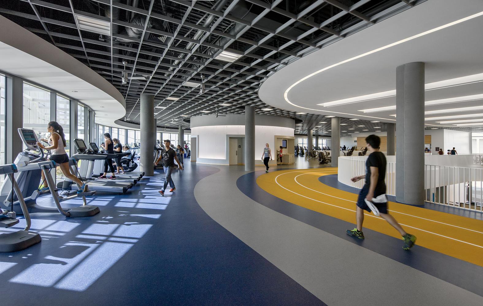 Дизайн спортивного комплекса – Тренажёрный зал и беговая дорожка