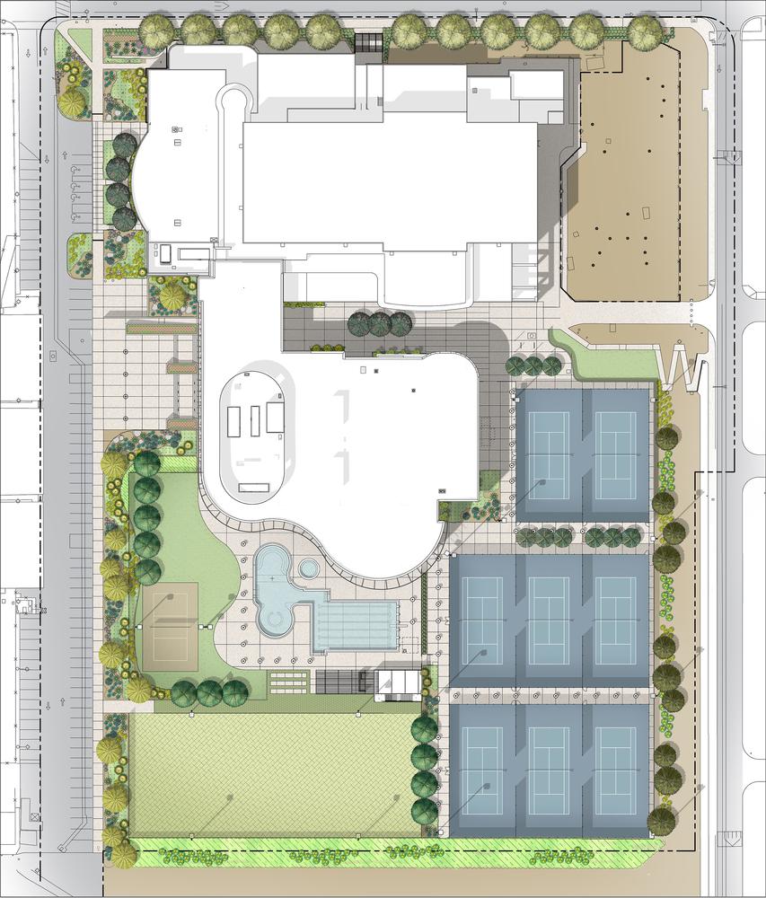 Дизайн спортивного комплекса – Вид сверху