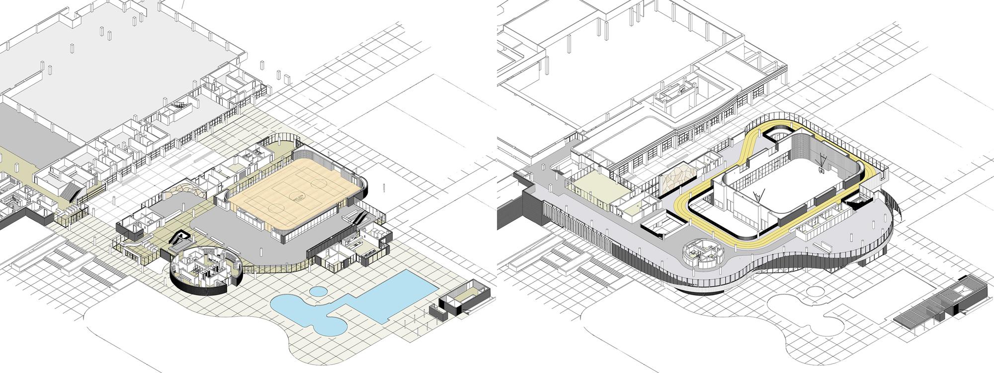 Дизайн спортивного комплекса – Планировка здания
