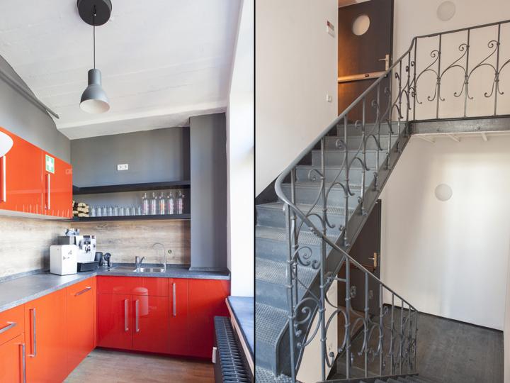 Домашний интерьер офиса - лестница из стали