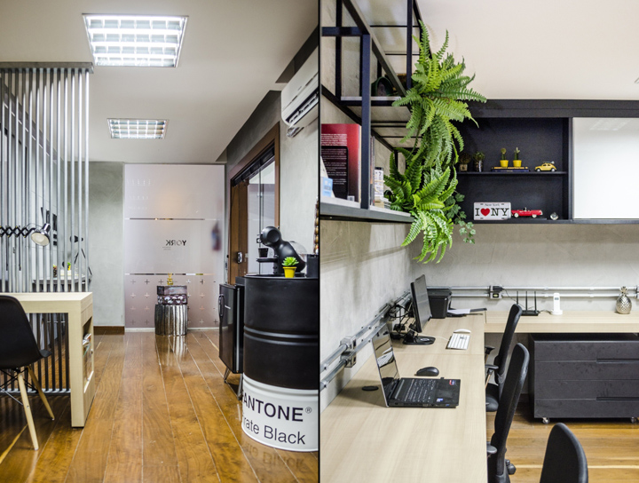 Домашний интерьер в офисе в современном стиле