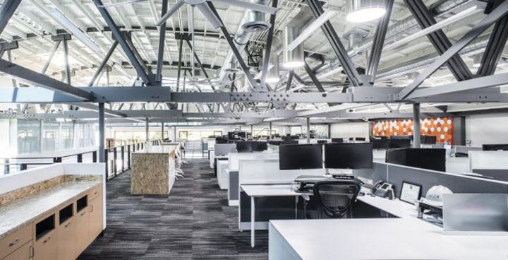 Интерьер DPR–конструкторского бюро в Калифорнии