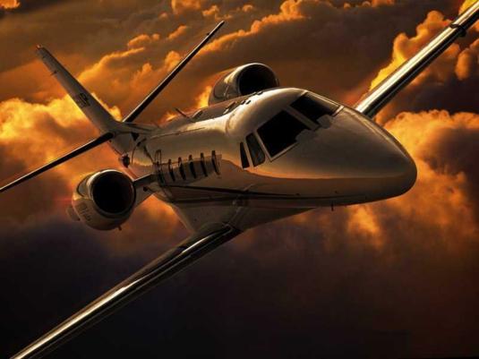 Элегантный двухмоторный самолёт Cessna 680 Citation Sovereign