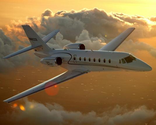 Двухмоторный самолёт Cessna 680 Citation Sovereign может садиться и взлетать с укороченных взлетно-посадочных полос