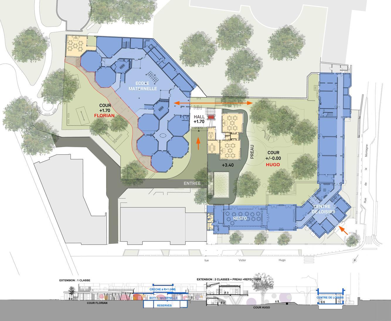План школы Ecole Sonia Delaunay