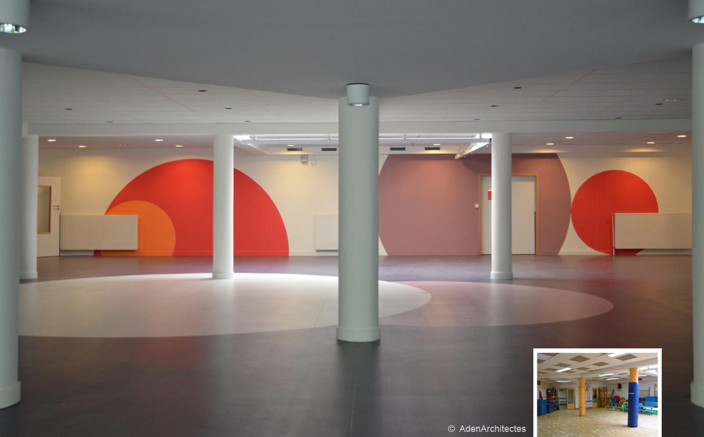 Спортивный зал в школе Ecole Sonia Delaunay