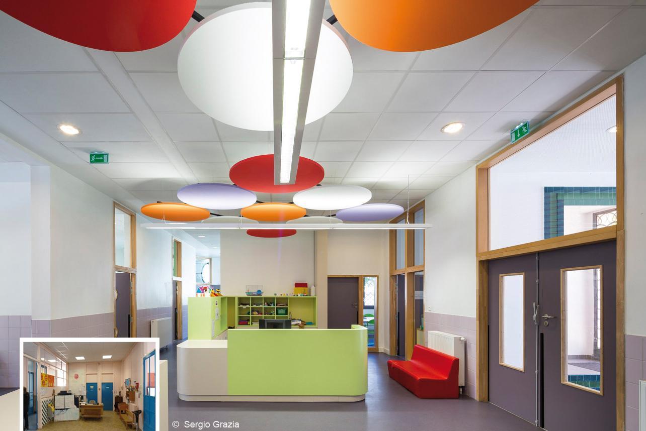 Комната отдыха в школе Ecole Sonia Delaunay