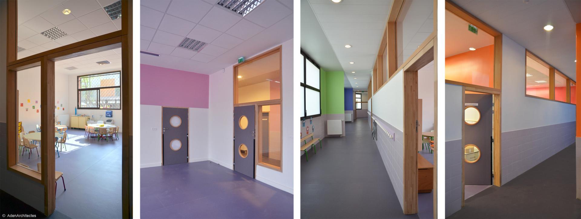 Классные комнаты в школе Ecole Sonia Delaunay
