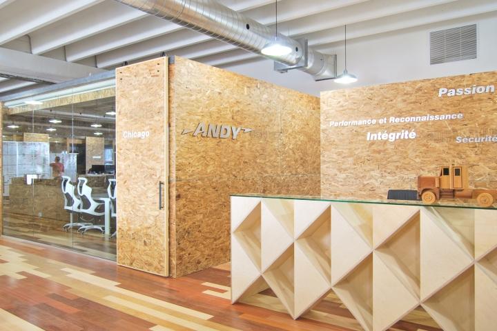 Экологичный интерьер офиса в Монреале - оттенки и текстуры