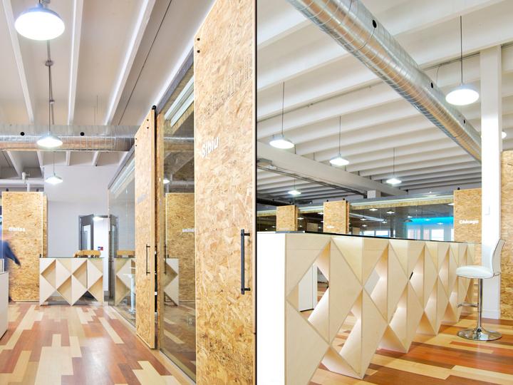 Экологичный интерьер офиса в Монреале - дизайн открытой площадки