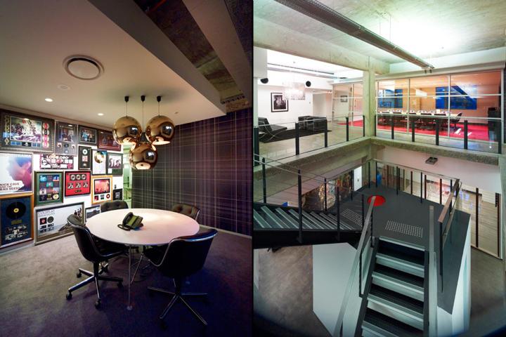 Лестничный проем и комната для совещаний корпорации EMI Music