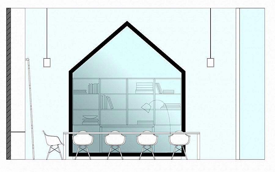 Схема офиса - вид сбоку