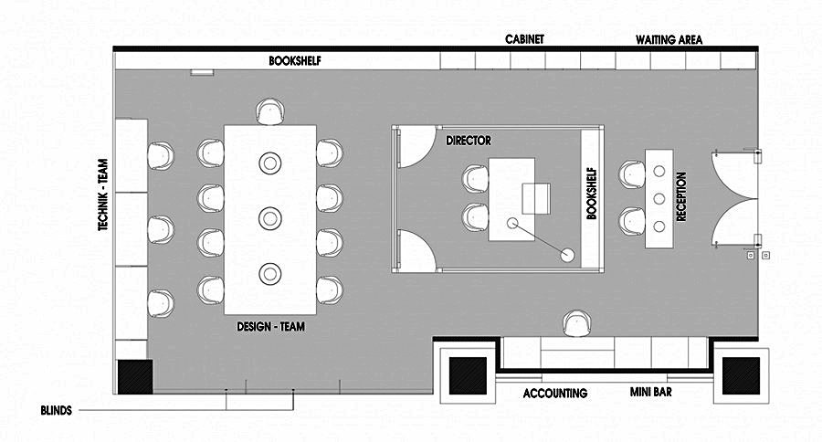 План-схема офиса