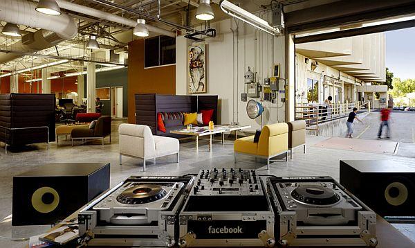 Дизайн лучших офисов: Facebook