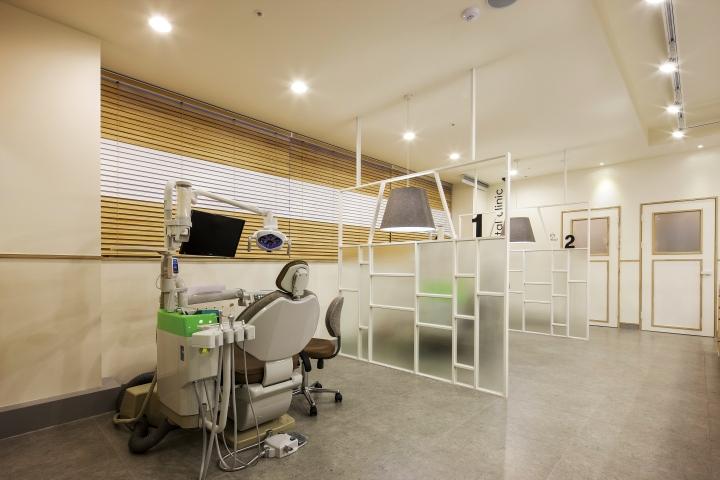 Кабинет семейной стоматологической клиники в Корее