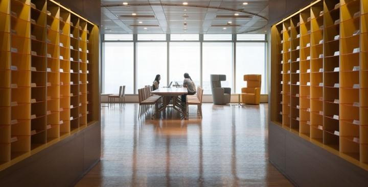 Гармоничный интерьер офиса: панорамное окно на рабочем месте