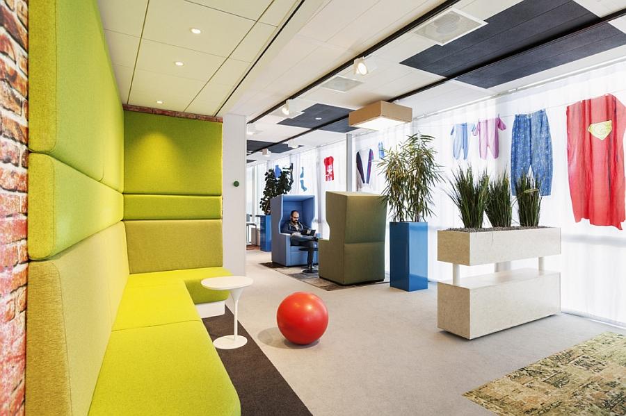 Зона отдыха офиса «Google» в Нидерландах