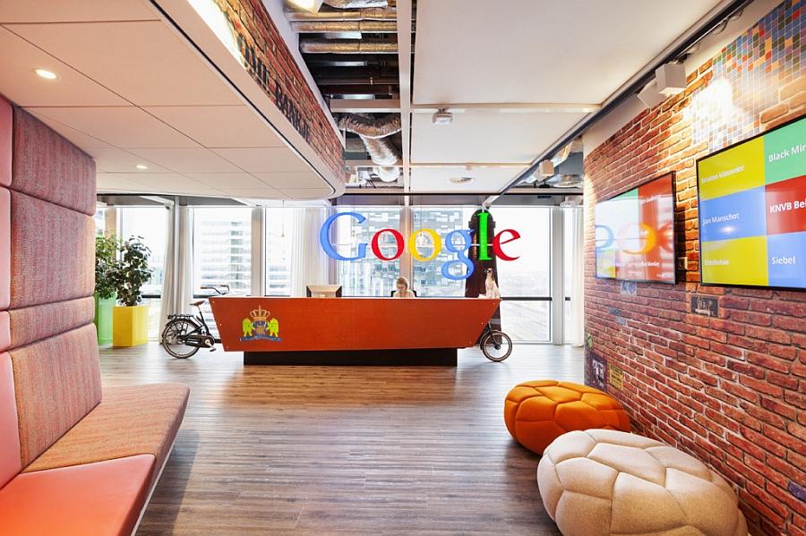 Ресепшен офиса «Google» в Нидерландах
