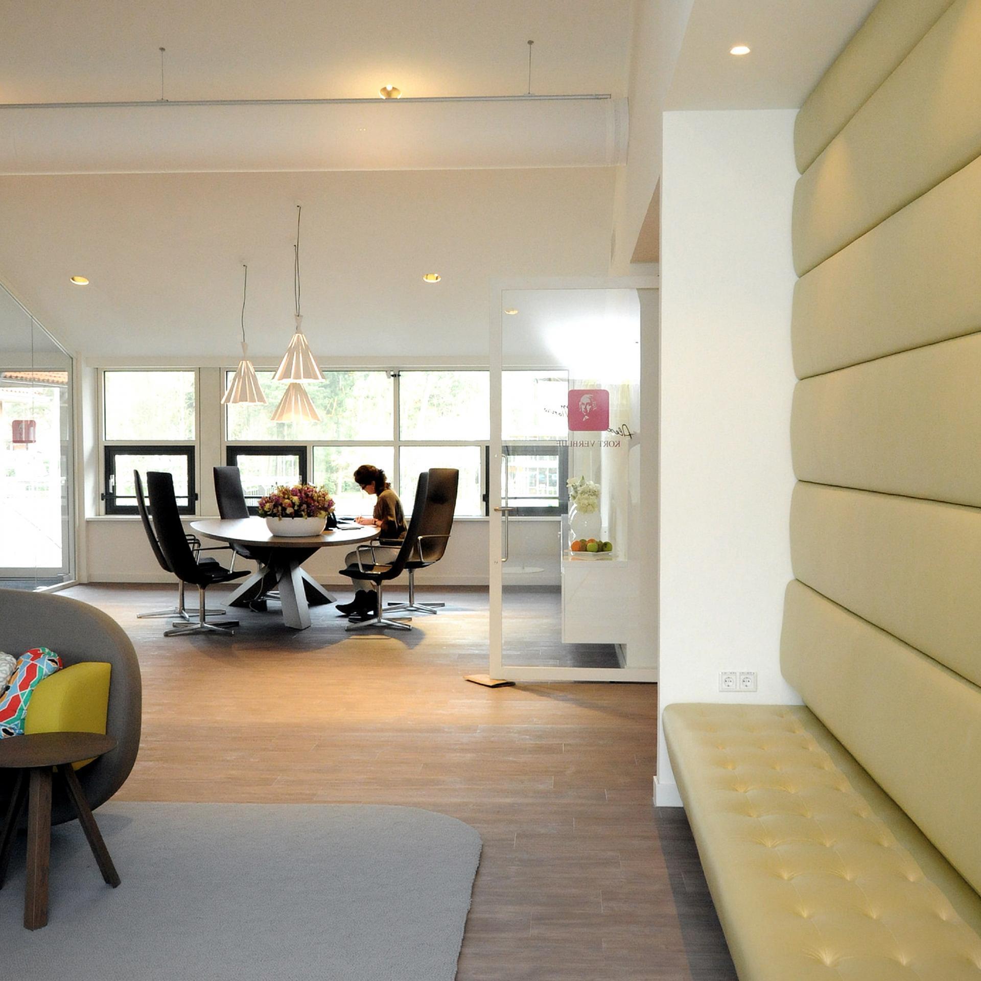 Мягкая мебель в приемной клиники имени Александра Монро