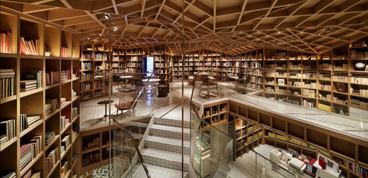 Интерьер библиотеки HYUNDAI в Южной Корее