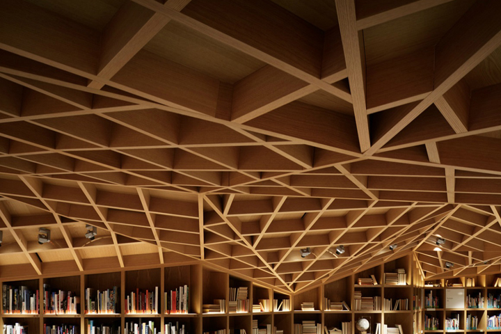 Потолок библиотеки HYUNDAI в Южной Корее