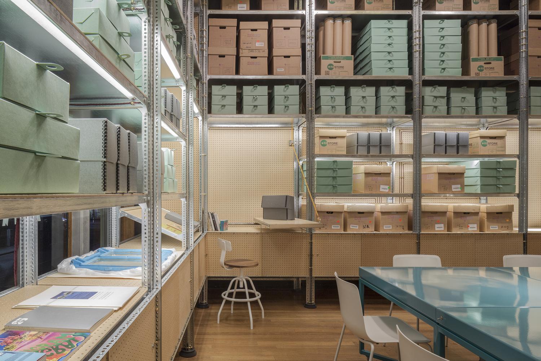 Идея интерьера архивного помещения от Jonathan Tuckey фото 2
