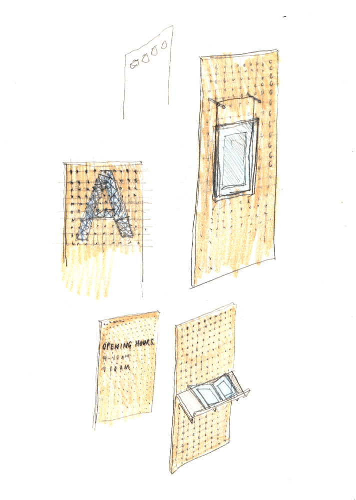 Скетч идеи интерьера архивного помещения от Jonathan Tuckey фото 14