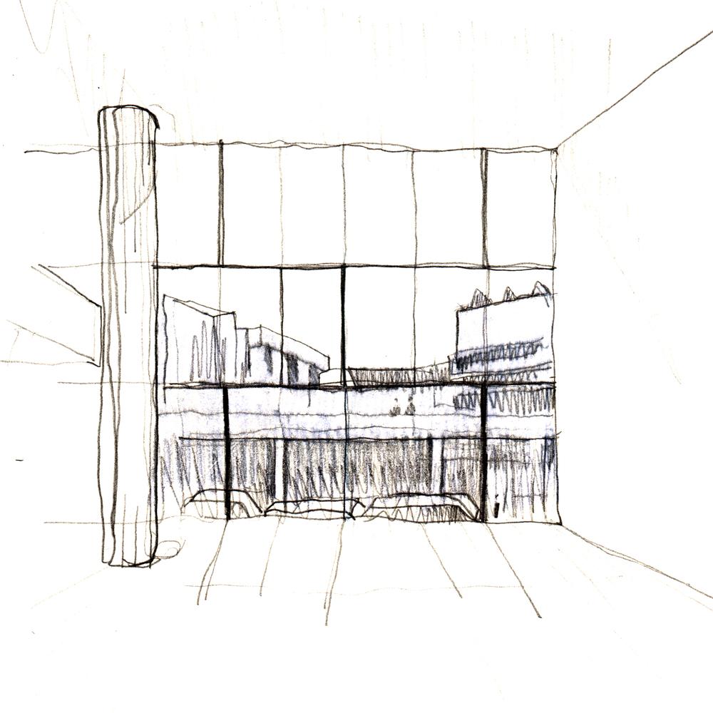 Скетч идеи интерьера архивного помещения от Jonathan Tuckey фото 8