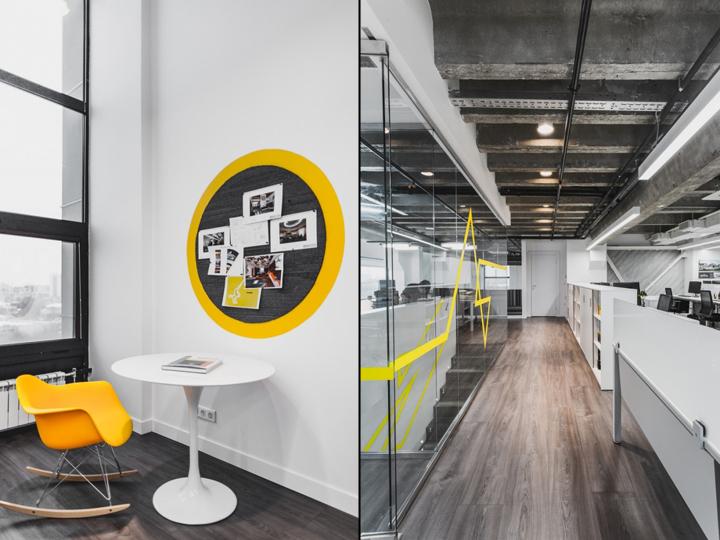 Оформление офиса архитектурного бюро IND в Москве, Россия