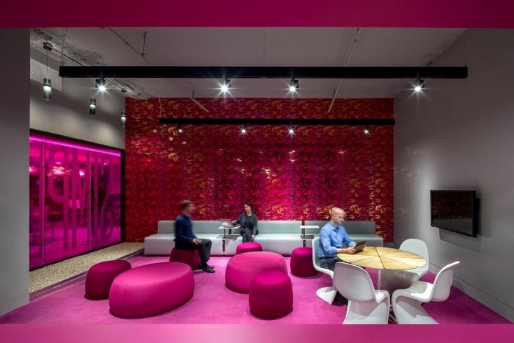 Место для отдыха персонала в офисе медийной компании Initiative Media в Нью-Йорке