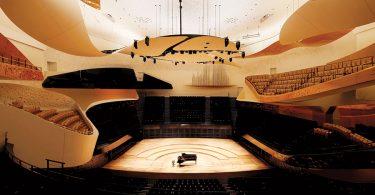 Интерьер филармонии Philharmonie de Paris от Jean Nouvel