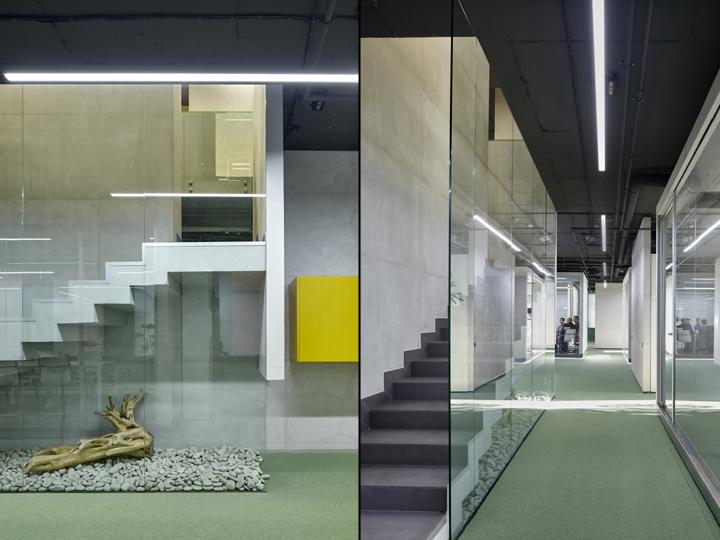 Натуральные материалы в оформлении интерьера офиса