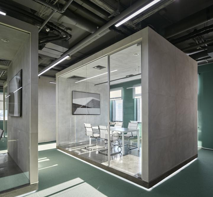 Кабинеты в офисе компании «Альфа-Строй»