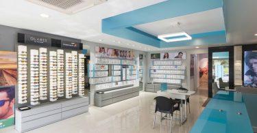 Интерьер магазина оптики Titan Eyeplus как отражение нового облика бренда