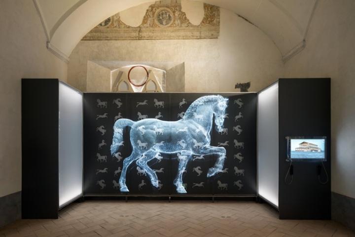 Интерьер музея: экспозиция Лощадь