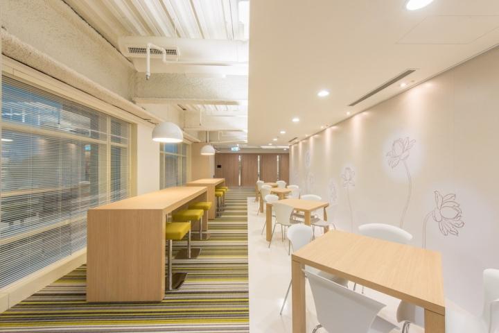 Интерьер небольшого офиса: яркие вкрапления жёлтого похожи на улыбку