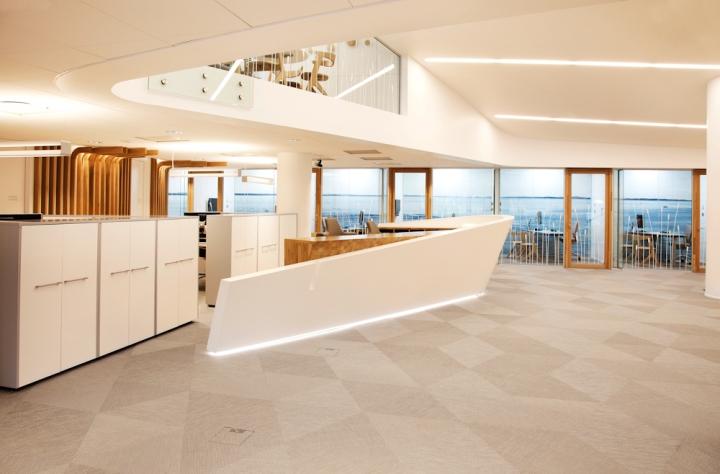 Интерьер офиса современного банка