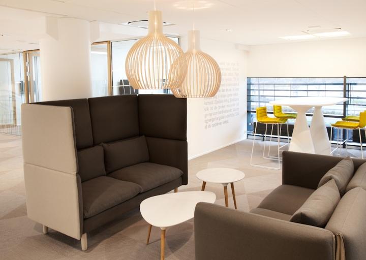 Интерьер офиса банка в Норвегии