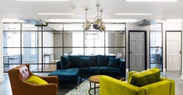 Яркие цвета в интерьере офисных помещений