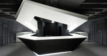 Стильный и мрачный интерьер офисных помещений в Германии