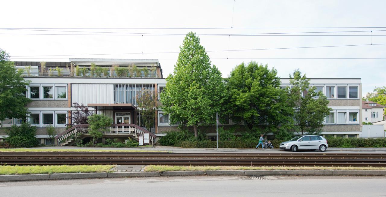 Обыденный экстерьер здания офисных помещений