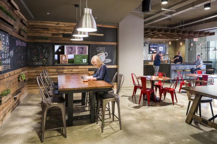 Кафе в интерьере рабочего офиса - фото 3