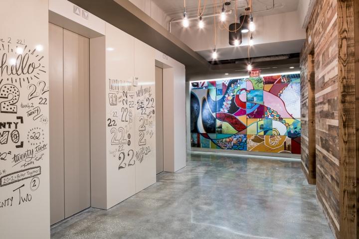 Граффити в интерьере рабочего офиса