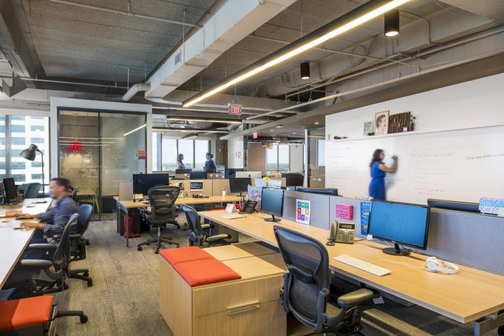 Рабочая зона в интерьере рабочего офиса