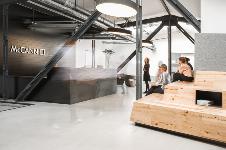 Интерьер рабочего офиса McCann Worldgroup в Берлине